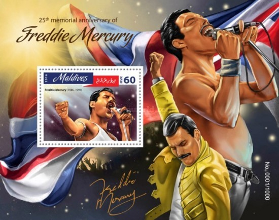 [The 25th Anniversary of the Death of Freddie Mercury, 1946-1991, Typ ]