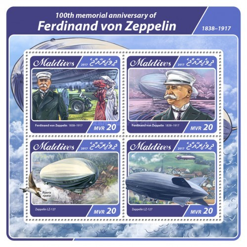 [Transportation - The 100th Anniversary of the Death of Ferdinand von Zeppelin, 1838-1917, type ]