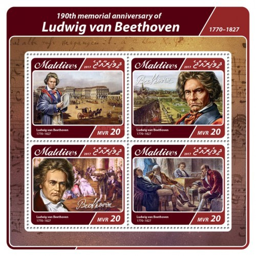 [The 190th Anniversary of the Death of Ludwig van Beethoven, 1770-1827, type ]