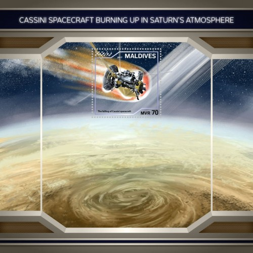 [Cassini Spacecraft Burning Up in Saturn's Atmosphere, Typ ]