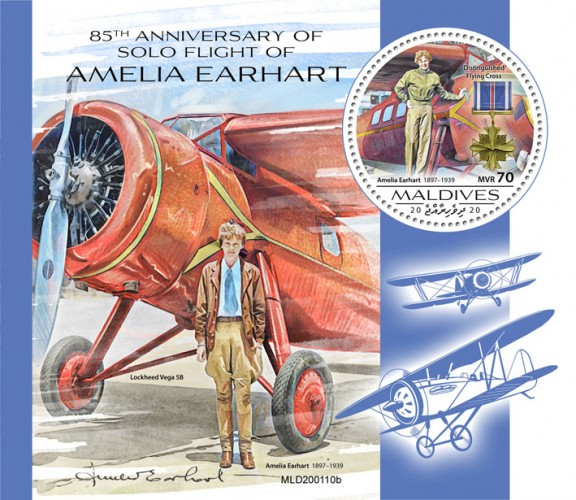 [The 85th Anniversary of the Solo Flight of Amelia Earhart, 1897-1939, type ]