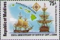 [The 250th Anniversary of the Birth of Captain James Cook and the 200th Anniversary of the Discovery of Hawaiian Islands, Typ ACB]