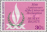 [The 30th Anniversary of Declaration of Human Rights, Typ ADE]