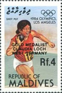 [Olympic Games Gold Medal Winners - Los Angeles, USA - Issues of 1984 Overprinted, Typ AOT]