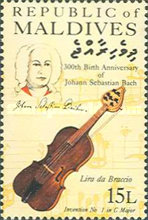 [The 300th Anniversary of the Birth of Johann Sebastian Bach, Composer, 1685-1750, Typ APC]