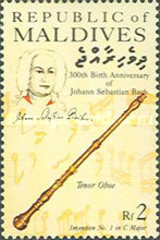 [The 300th Anniversary of the Birth of Johann Sebastian Bach, Composer, 1685-1750, Typ APD]