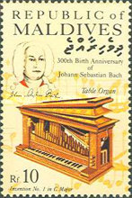 [The 300th Anniversary of the Birth of Johann Sebastian Bach, Composer, 1685-1750, Typ APF]