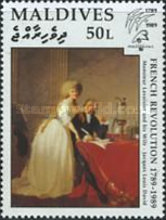 "[The 200th Anniversary of French Revolution and International Stamp Exhibition ""Philexfrance '89"" - Paris, France - French Paintings, type BBE]"