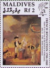 "[The 200th Anniversary of French Revolution and International Stamp Exhibition ""Philexfrance '89"" - Paris, France - French Paintings, type BBG]"