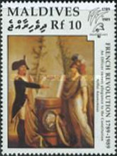 "[The 200th Anniversary of French Revolution and International Stamp Exhibition ""Philexfrance '89"" - Paris, France - French Paintings, type BBJ]"