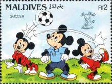 "[International Stamp Exhibition ""Stamp World London '90"" - London, England - Walt Disney Cartoon Characters Playing British Sports, type BBQ]"