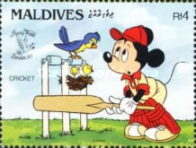 "[International Stamp Exhibition ""Stamp World London '90"" - London, England - Walt Disney Cartoon Characters Playing British Sports, type BBR]"