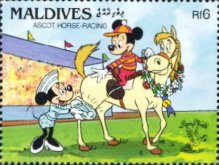 "[International Stamp Exhibition ""Stamp World London '90"" - London, England - Walt Disney Cartoon Characters Playing British Sports, type BBS]"