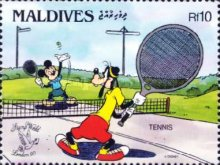 "[International Stamp Exhibition ""Stamp World London '90"" - London, England - Walt Disney Cartoon Characters Playing British Sports, type BBT]"