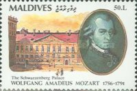 [The 200th Anniversary of the Death of Wolfgang Amadeus Mozart, 1756-1791, Typ BKL]
