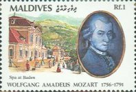 [The 200th Anniversary of the Death of Wolfgang Amadeus Mozart, 1756-1791, Typ BKM]
