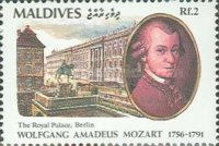 [The 200th Anniversary of the Death of Wolfgang Amadeus Mozart, 1756-1791, Typ BKN]
