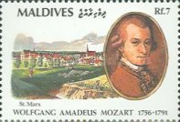 [The 200th Anniversary of the Death of Wolfgang Amadeus Mozart, 1756-1791, Typ BKP]