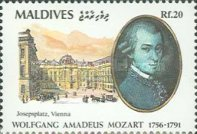 [The 200th Anniversary of the Death of Wolfgang Amadeus Mozart, 1756-1791, Typ BKQ]