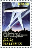 [The 125th Anniversary of the Birth of Hugo Eckener, Airship Pioneer, 1868-1954, Typ CAD]