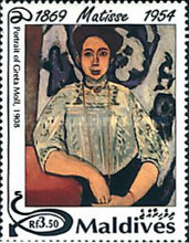 [The 40th Anniversary of the Death of Henri Matisse, 1869-1954, Typ CBV]