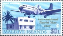 [International Tourist Year - Issues of 1967 Overprinted
