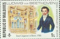 [The 150th Anniversary of the Death of Ludwig van Beethoven, German Composer, 1770-1827, Typ YS]