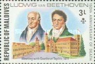 [The 150th Anniversary of the Death of Ludwig van Beethoven, German Composer, 1770-1827, Typ YU]