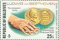 [The 150th Anniversary of the Death of Ludwig van Beethoven, German Composer, 1770-1827, Typ YX]