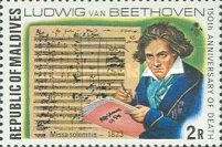 [The 150th Anniversary of the Death of Ludwig van Beethoven, German Composer, 1770-1827, Typ YY]