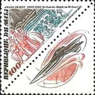 [Airmail - The 75th Anniversary of the Death of Jules Verne, Writer, 1828-1905, type AAE]