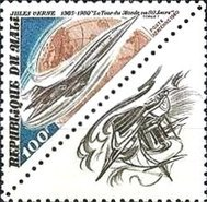 [Airmail - The 75th Anniversary of the Death of Jules Verne, Writer, 1828-1905, type AAF]