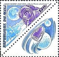 [Airmail - The 75th Anniversary of the Death of Jules Verne, Writer, 1828-1905, type AAH]