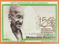 [The 150th Anniversary of the Birth of Mahatma Gandhi, 1869-1948, type CNN]