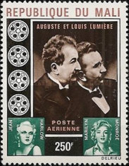 [Airmail - Lumiere Brothers, Inventors of the Cine Camera, Commemoration, type GN]