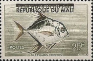 """[Issues of 1960 Overprinted """"REPUBLIQUE DU MALI"""", type I1]"""