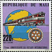 [Airmail - The 75th Anniversary of Rotary International, type YL]