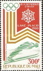 [Airmail - Winter Olympic Games - Lake Placid, USA, type YU]