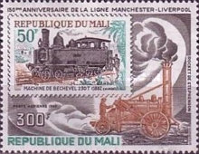[Airmail - The 150th Anniversary of Liverpool and Manchester Railway, type YW]
