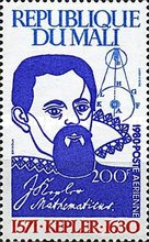 [Airmail - The 350th Anniversary of the Death of Johannes Kepler, Astronomer, 1571-1630, type ZL]