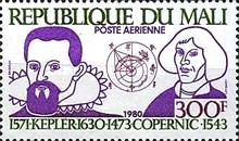 [Airmail - The 350th Anniversary of the Death of Johannes Kepler, Astronomer, 1571-1630, type ZM]
