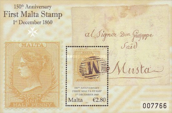 [The 150th Anniversary of the First Malta Stamp, type ]