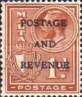 [No. 134 & 135 in Different Color Overprinted - POSTAGE AND REVENUE, type AG10]