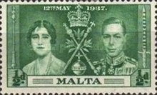 [The Coronation of King George VI, type AJ]