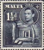 [King George VI and Local Motifs, type AN1]