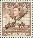 """[King George VI and Local Motifs Overprinted """"SELF-GOVERNMENT - 1947"""", type BA1]"""