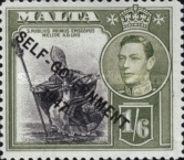 """[King George VI and Local Motifs Overprinted """"SELF-GOVERNMENT - 1947"""", type BA10]"""