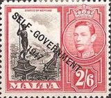 """[King George VI and Local Motifs Overprinted """"SELF-GOVERNMENT - 1947"""", type BA12]"""