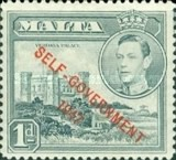 """[King George VI and Local Motifs Overprinted """"SELF-GOVERNMENT - 1947"""", type BA2]"""