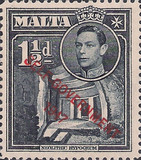 """[King George VI and Local Motifs Overprinted """"SELF-GOVERNMENT - 1947"""", type BA3]"""